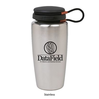 Picture of 1001 | 32 oz. Stainless Steel Nalgene Backpacker w- Black closure attached