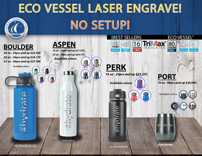 Picture of EcoVessel Laserware!