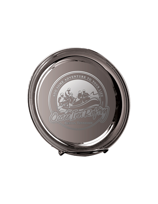 Picture of DE09 | Deep Etched 8 inch Silver Plated Tray