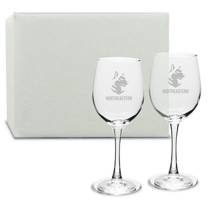 Picture of DE05S2 | 12oz Deep Etch Wine Glass 2pc set
