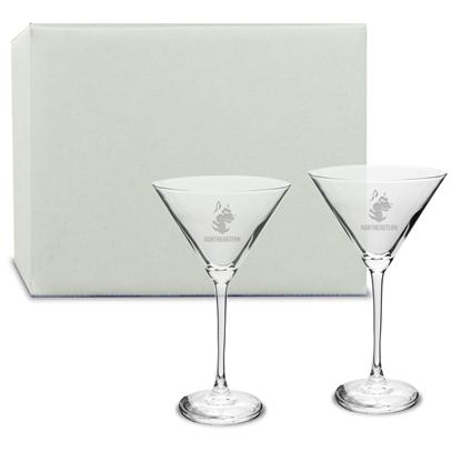 Picture of DE06S2 | 12oz Deep Etch Martini Glass 2pc set
