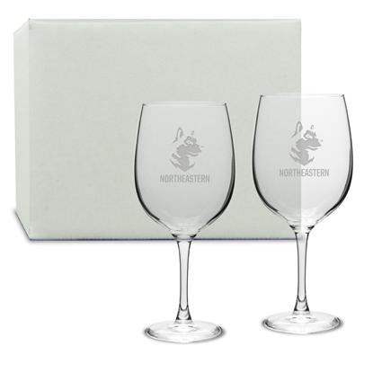 Picture of DE08S2 | 19oz Deep Etch Wine Glass 2pc set